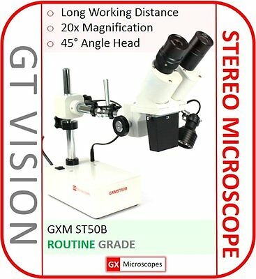 GX Microscopes ST50B Stereo Microscope, 20x Magnification, Mobile Phone Repair