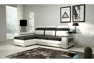 Unique+Branded Fabric Corner Sofa Bed Verso A - Storage Box Left/right Hand Side