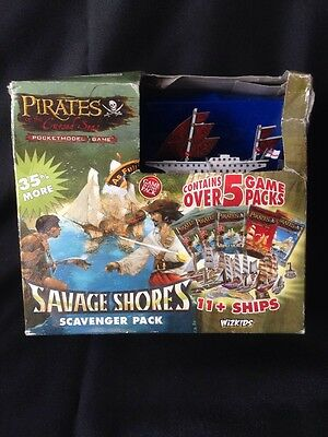 Wizkids Pirates of the Cursed Seas Savage Shores 11+ Ships Model Game 2008 (G10