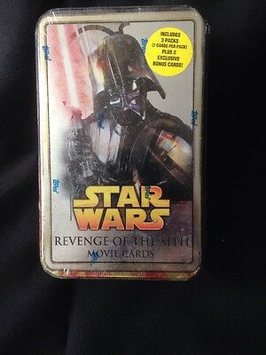 TOPPS - Trading Movie Cards - Star Wars Revenge of The Sith - Sealed tin (G9)