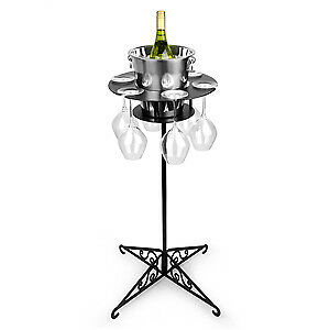 Ice Bucket Wine Waiter - Wine Bucket Stand with Included Champagne Bucket