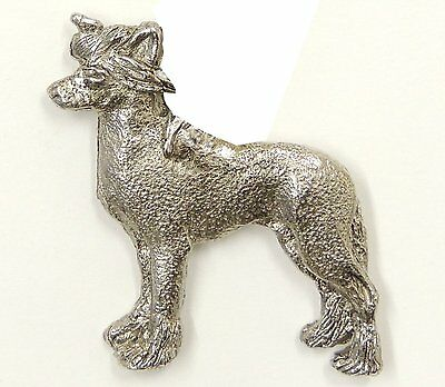 Chinese Crested  Brooch, Silver Plated