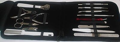 15 in 1 Top Quality Manicure Kit, Pedicure Set Stainless Steel With Case.