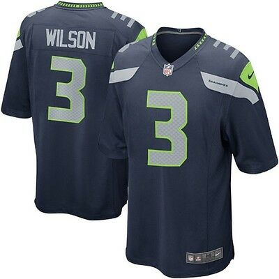 Mens Nike #3 Russell Wilson Seattle Seahawks NFL jersey brand new authentic!