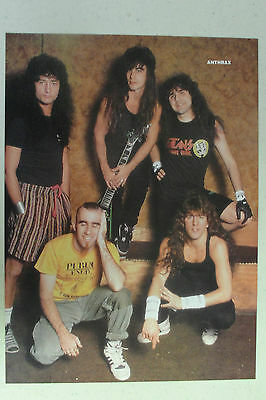 ANTHRAX Full Page Pinup magazine clipping SO YOUNG HERE