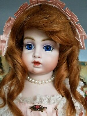 Antique Reproduction Circle Dot Bru Rose Porcelain Doll