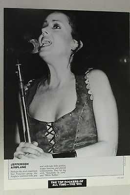 JEFFERSON AIRPLANE Grace Slick Full Page Pinup magazine clipping pretty live pic