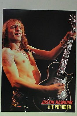 THE DARKNESS Justin Hawkins Full Page Pinup magazine clipping shirtless on stage