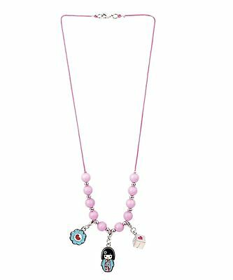 Kimmidoll Junior Charlie Kids Girls Beaded Necklace With Charms - FREE SHIPPING
