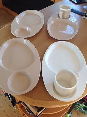 vintage/retro CAMPUS ANTIFERENCE cup/plate plastic tray  Picnic Camping.