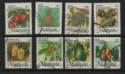 Malaysia 1986 Fruits definitives SG344-351 fine used set stamps to $20