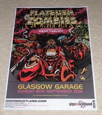 Flatbush Zombies CONCERT POSTER - sept 2016 UK live music show gig tour poster