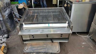 Archway Stainless Steel Charcoal 3 Burner Long Grill
