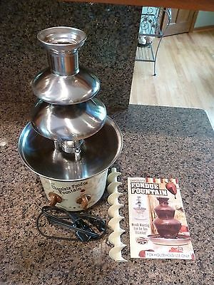 3-Tier Electric Stainless Steel Chocolate & Cheese Fondue Fountain