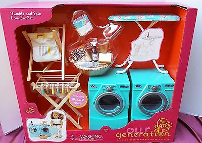 New American Our Generation Journey Madame Alexander 18 Girl Doll Washer Dryer