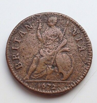 1672 King Charles 11 Farthing Coin