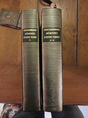 la pleiade gallimard nrf chateaubriand memoire d outre-tombe 1951 tome I II 1&2