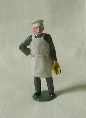 "Miller/Baker with flour scoop, 2-1/4"" (1:32) train figure, Reproduction Johillco"
