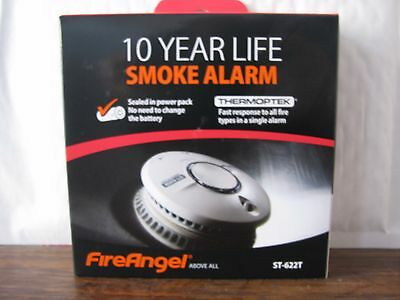 Fireangel Smoke Alarms St622 Detector 10 Yr Life Lithium Battery Sept 2027