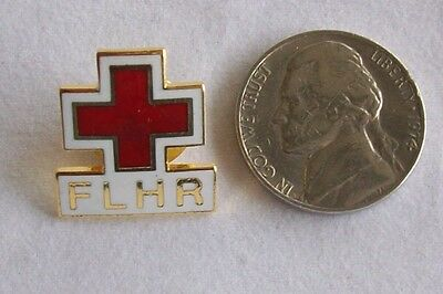 FLHR Red Cross Hat - Lapel Pin