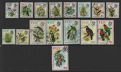 Fiji 1971 Birds & flowers definitives SG435-520 fine used set stamps to $2