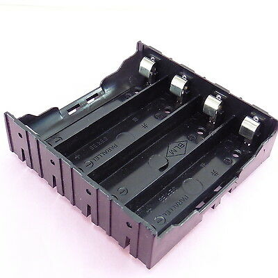 4x Cell 18650 Battery Holder Case Box Leads Pins PCB Board Mount Plastic