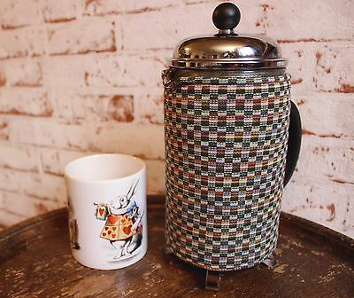 VINTAGE/RETRO Cafetiere/Coffee Pot COSY/WARMER~Crimplene/Gingham/Green/Check/Hip