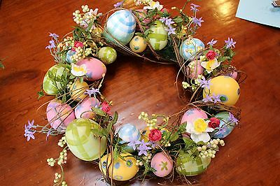 Spring Easter Egg WREATH DOOR/WALL HANGING - Colorful Special