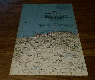 1965 Spain And Portugal Atlas Plate 33 Map Rare Cartographic Division World Rare