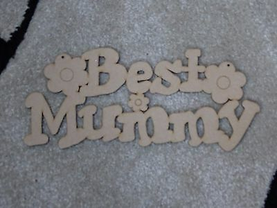 Best Mummy Wooden Phrase Quote Words Blank
