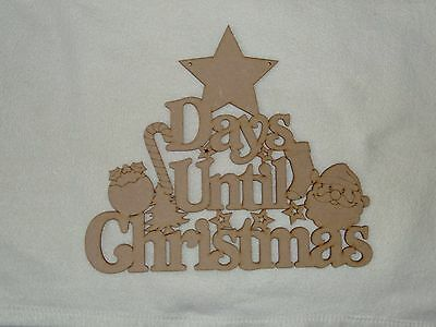 Days Until Christmas Countdown Wooden Phrase Quote Words Blank