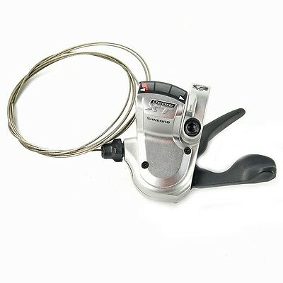 New Shimano Deore XT 3 Speed Shifter Trigger Rapidfire Left Shift Gray w. Wire