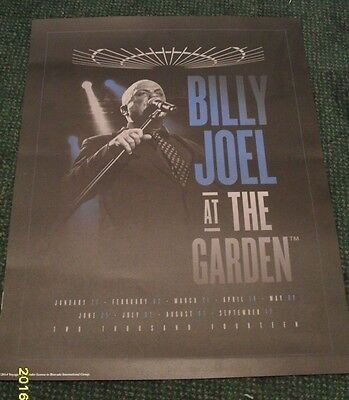 Billy Joel - At The Garden Poster - New York  - 2014