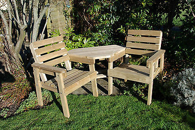 Wooden garden Cosy Corner seat (Love seat), Jack and Jill, patio