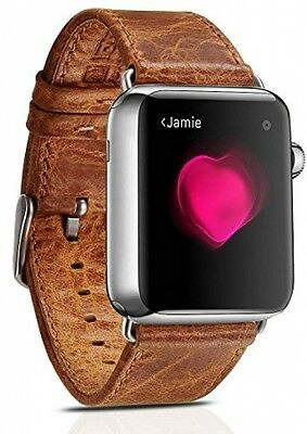 Apple Smart Watch 42 iWatch Watch Genuine Replacement Leather Wrist Band Strap