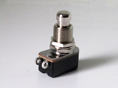 Foot switch push to make non latching SPST heavy duty for guitar effects pedals
