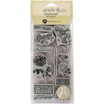 Graphic 45 Time To Flourish Cling Stamps-#2 729632157820