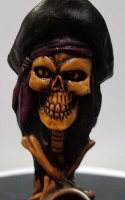 Artisan Spanish Skull And Cross Bones Handcrafted Pipe