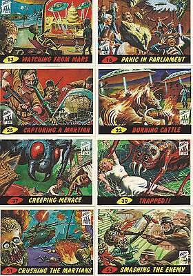 Mars Attacks! Archives 1994 First Day 8 Card Lot! Plus 2 Original Wrappers!