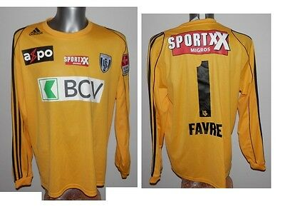 Very Rare FC LAUSANNE-SPORT Favre #1 GK Football Shirt L/S Soccer SWISS XL
