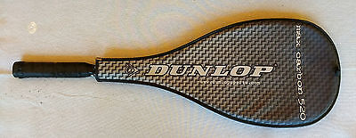 *Near New* Dunlop Max Carbon 520 Squash Racquet w/cover and 4 used balls