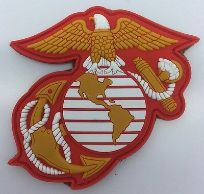 Full-Color Us Marine Corps Eagle Globe & Anchor Pvc Patch