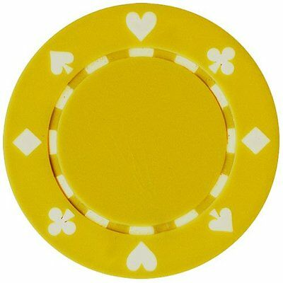 50 Clay Composite Suited 11.5-Gram Poker Chips (YELLOW)