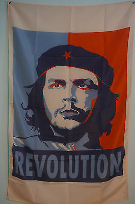 CHE GUEVARA Revolution Flag Banner Man Cave Store Commerce 5x3 Feet