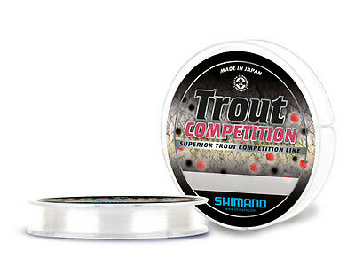 MONOFILO SHIMANO  TROUT COMPETITION 0,20mm  300mt made in japan SPECIALE TROTA