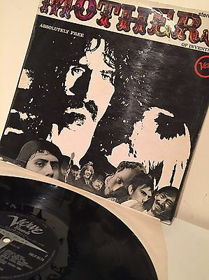 The Mothers Of Invention(Vinyl 1st Issue 1967) Absolutely Free-Verve- SVLP.9174
