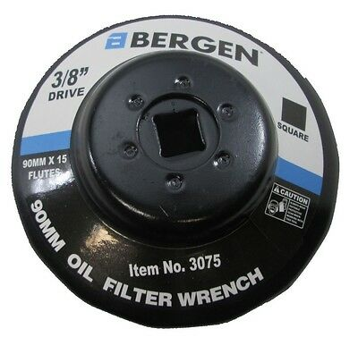 "Bergen 3/8"" Dr Oil Filter Wrench 90mm - 15 Flutes Jaguar Land Range Rover 3075"