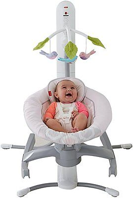 Fisher-Price 4 in 1 Motion Cradle 'n Swing with Smart Connect light blue