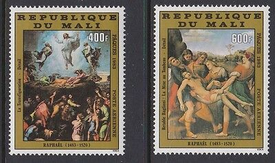 Mali 1983 Air Easter Art Raphael complete mint issue sg957-958