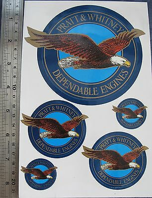 Pratt and Whitney Dependable Engines Stickers